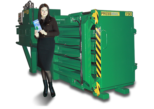 Пресс горизонтальный для отходов PRESSMAX 730