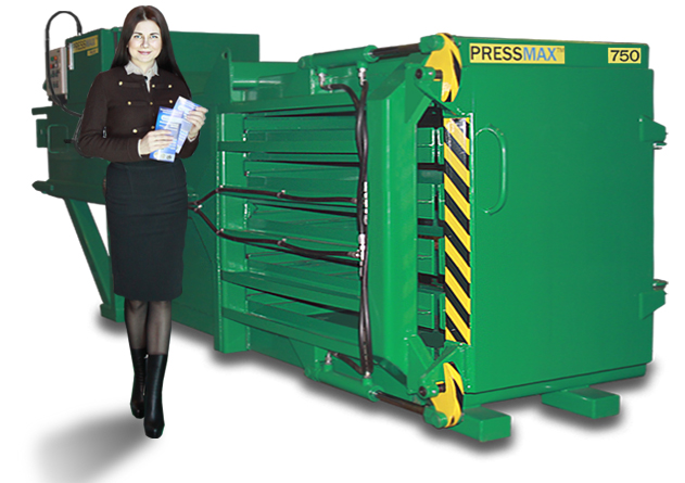 Пресс горизонтальный для отходов PRESSMAX 750